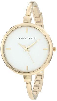 Anne Klein Women's AK/1048WTGB Gold-Tone Illusion Bangle Watch