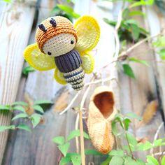 Ravelry: lalylala Brimstone Butterfly - Life Cycle Playset pattern by Lydia Tresselt