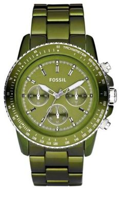 Army green Fossil - I'm not on the Fossil watch bandwagon....but, I do like this one.