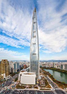 Lotte World Tower by Kohn Pedersen Fox Associates in Seoul, South Korea