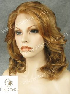 Lace Front Wig Wavy Blonde Chestnut Medium-Short Hair. New Style Wig N19-27HR/10. On Line Wig Store. Buy Wigs On Line. Lace Front Wigs. http://findwig.com/lace-front-wig-wavy-chestnut-medium-long-hair.html
