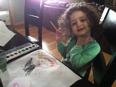 Curly is definitely more into art than me. I remember quickly becoming bored with art as a preschooler. Not Curly! If she had a mantra, I th...