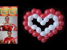 corazón con globos paso a paso - globoflexia corazón - corazon con globos largos - YouTube