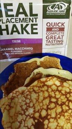 Meal replacement shake pancakes