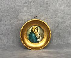 Neighborhood Garage Sale, Venice Biennale, Vintage Art Prints, Madonna And Child, Original Art, Miniatures, Fresh, Gold, Etsy