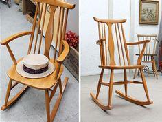 Modern Chairs イギリスヴィンテージロッキングチェア北欧家具アームK 359 インテリア 雑貨 ¥34000yen 〆10月23日