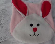 Puppy Bib Infant Baby Bib Animal Reversible Fleece by DinkyDimples