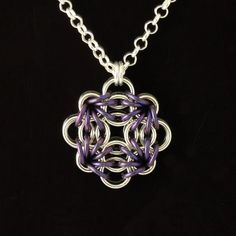 Sterling silver and anodized niobium pendant for by Silverfalls