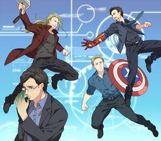 Tags: Marvel, Thor Odinson, The Avengers, Robert Downey Jr., Chris Evans, Steven Rogers, Bruce Banner, Anthony Edward Stark, Chris Hemsworth, Pixiv Id 206050