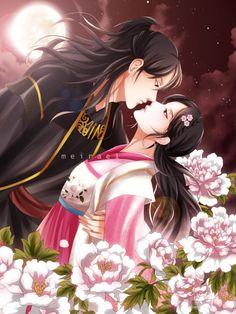 moon lovers wang so hae soo Anime Love Couple, Couple Art, Love Art, All Art, Magic Anime, Scarlet Heart Ryeo, Lee Jun Ki, Lee Joon, Joon Gi