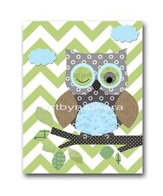 Owl+Decor+Owl+Nursery+Baby+Boy+Nursery+Art+Nursery+by+artbynataera,+$14.00