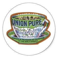 Shop Union Pure Merchant's Coffee Label Poster created by vintagegiftmall. Coffee Business, Coffee Tasting, Vintage Labels, Vintage Coffee, Custom Posters, Sticker Design, Custom Framing, Business Cards, Latte