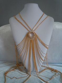 Body Necklace Gold - $50.00