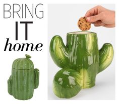 """""""Bring It Home: Cactus Cookie Jar"""" by polyvore-editorial ❤ liked on Polyvore featuring interior, interiors, interior design, home, home decor, interior decorating, Dot & Bo and bringithome"""