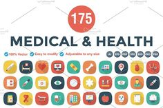 Flat Square Shadow Medical & Health by Dinosoftlabs on @creativemarket