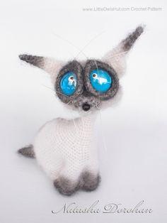 Project by Natalya Dorohan, Pattern used: Cat Siam Amigurumi crochet pattern by Pertseva on www.LittleOwlsHut.com