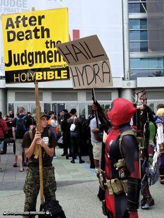 We've all got our agendas... #Deadpool #cosplay / http://saltlakecomiccon.com/slcc-2015-tickets/?cc=Pinterest