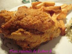 J'ai essayé plusieurs recettes de poulet frit et je suis toujours revenue à celle-ci, le poulet est très croustillant et ressemble sensibl... Poulet Kentucky, Banana Bread, Bbq, Esther, Muffin, Meals, Chicken, Breakfast, Desserts