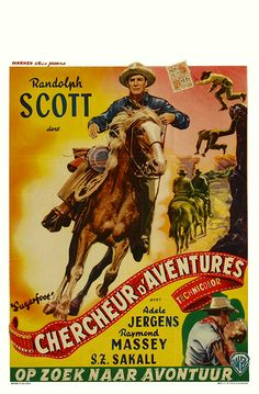 Sugarfoot 1951 Authentic x Original Movie Poster Randolph Scott Western Belgian Movie Posters For Sale, Original Movie Posters, Adele, Films Western, Westerns, Movie Collage, Randolph Scott, Illustrations And Posters, Vintage Movies