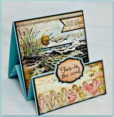 Our Daily Bread Designs Life is Better, Flip Flop Fun, The Mighty Sea, ODBD Blushing Rose Paper Collection, ODBD Custom Pennants Die