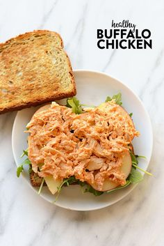 just 150 calories, carb, and fat per serving, this Healthy Buffalo Chicken is packed with protein and super easy to make! Buffalo Chicken Recipes, Chicken Recipes Video, Healthy Buffalo Chicken, Healthy Chicken Recipes, Easy Healthy Recipes, Lunch Recipes, Healthy Snacks, Healthy Eating, Healthy Protein