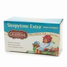 Celestial Seasonings Tea Caffeine Free Herbal Tea, Sleepytime Extra-THE BEST!!! TOTALLY SOOTHES U, GOOD TO DRINK AFTER DINNER TO HELP DIGEST FOOD AND CALM YOU :) MOM N DAD DRINK IT EVERY NIGHT!
