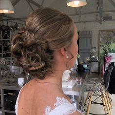 Curled Wedding Hair, Short Wedding Hair, Curl Styles, Short Hair Styles, Wedding Hairstyles Half Up Half Down, Up Hairstyles, Wedding Makeup, Curls, Dresses