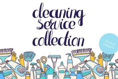 Cleaning service collection by Karina's little shop on @creativemarket