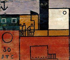 'Barco constructivo, París' (1930) by Uruguayan artist & sculptor Joaquín Torres García (1874-1949). via MNAC