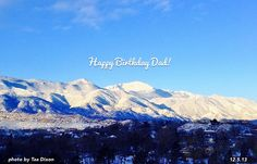 Dec 5th is one of my favorite days of the year. Lovely blue sky and snowy mountains this morning!