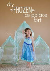 DIY frozen ice palace using crazy forts.