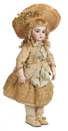Stars - 2 Volume Set: 177 Wonderful Large French Bisque Bebe by Leon Casimir Bru in Original Costume