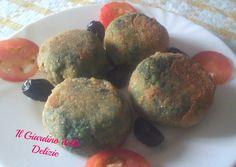 Polpette con olive e spinaci
