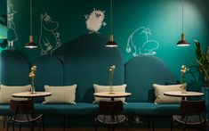 Interior and furniture design for Mumin Café in Lasanic, Helsinki.