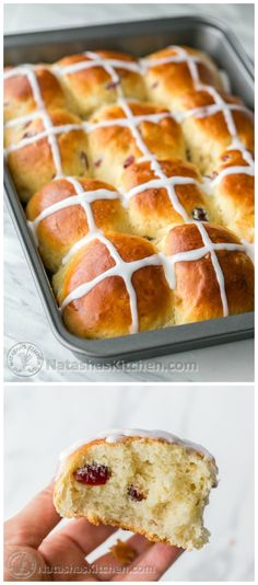 ♔ Hot Cross Buns Recipe. I loved how super fluffy these are! Great Easter tradition! @natashaskitchen