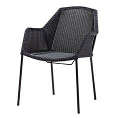 Breeze pinottava tuoli, musta