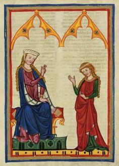 Die Winsbekin aus dem Codex Manesse