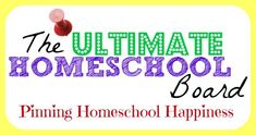 Follow the new Ultimate #Homeschool Board on Pinterest. You'll find the best homeschool resources and more for homeschool happiness.  http://pinterest.com/JustJamerrill/ultimate-homeschool-group-board/