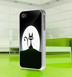 apple iphone case funny cute Cat iphone 4 4s or 5 by MuliasCraft, $15.99