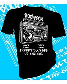 Boombox Street Culture 1980 t-shirt design  #lahfabrics #fashion #style #art #gifts #tee #tshirt #streetstyle #street #streetwear #music #boombox #stereo #80 #1980s