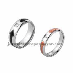 anillo de estilo moda plata en acero inoxidable para amantes -SSRGG971726