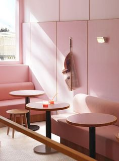 A Pink Formica Cafe by Child Studio [LONDON] – Trendland Online Magazine Curating the Web since 2006 Pink Restaurant, Restaurant Design, Kids Cafe, Wall Candy, Timber Panelling, Red Interiors, Do It Yourself Home, Interior Paint, Interior Design