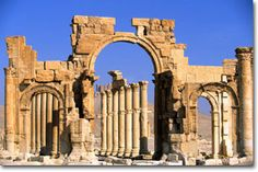 This site has a great history and pic of the Temple of Bel (Baal) in Palmyra, Syria, just northeast of Damascus. Palmyra, the oasis city under the Roman Empire. Palmyra Temple, Palmyra Syria, Religious Architecture, Ancient Architecture, Ancient Rome, Ancient History, Beautiful World, Beautiful Places, Travel Around The World