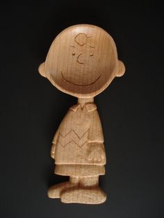 Charlie Brown  wood spoon by Spoontaneous on Etsy, $115.00