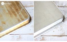 All you need is two simple ingredients to make this Cookie Sheet Cleaner. Learn how to Reseason Cast Iron Pots too.