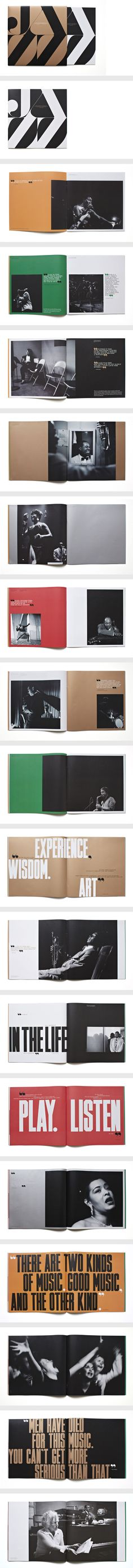 Type as dominant graphic element  Jazz FM Booklet by Matt Willey