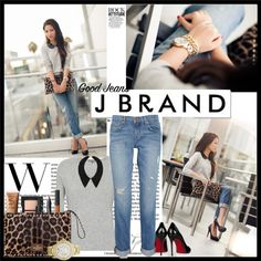 """""""J Brand, good jeans"""" by stacy-gustin on Polyvore"""