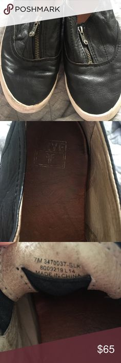 Frye Dylan zip moto These are the most comfortable shoes I've ever worn! Fit tts. I have 4 pairs & haven't reached for these in a really long time. Frye Shoes Sneakers