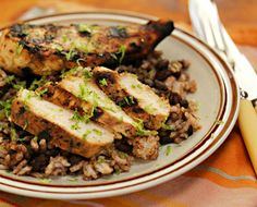 Brick-grilled chicken thighs, from The Perfect Pantry. | Grilling the ...