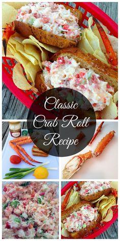 Classic Crab Roll Recipe #CrabRoll #Foodie #Recipe http://scrappygeek.com/classic-crab-roll-recipe/